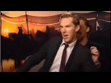 Tom Hiddleston and Benedict Cumberbatch dance off.